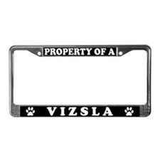 Property Of A Vizsla License Plate Frame