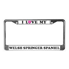 Love My Welsh Springer Spaniel License Plate Frame