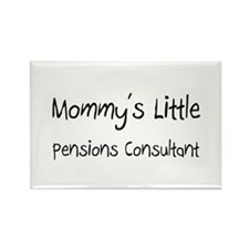 Mommy's Little Pensions Consultant Rectangle Magne