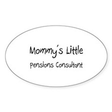 Mommy's Little Pensions Consultant Oval Decal