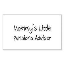 Mommy's Little Pensions Adviser Decal