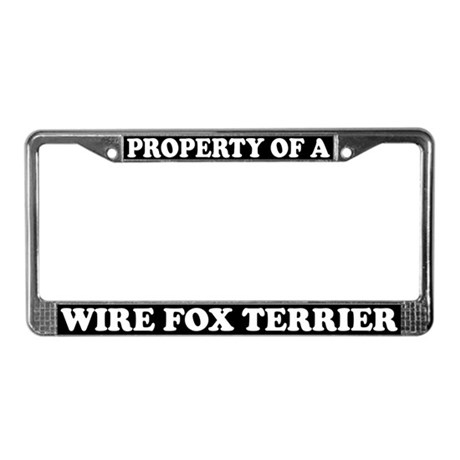 Property Of A Wire Fox Terrier License Plate Frame