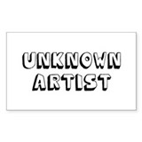 Unknown Artist Rectangle Bumper Stickers