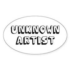 Unknown Artist Oval Decal