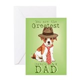 Parson Russell Father's Day Greeting Card