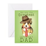 Welsh Corgi I Love Dad Greeting Card