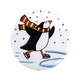 "Cute Cute children on skates 3.5"" Button"