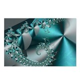 """Sparkle 2"" Fractal Art Postcards (Packa"