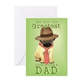 Pug I Love Dad Greeting Card