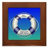 Smooth and Happy Sailing Framed Tile