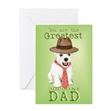 Westie Dad Greeting Card