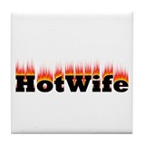 Flaming Hotwife Tile Coaster