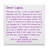 Dear Lupus Tile Coaster