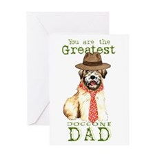 Wheaten I Love Dad Greeting Card
