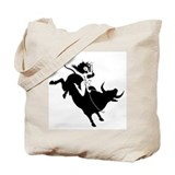 Black Bull Rider Tote Bag
