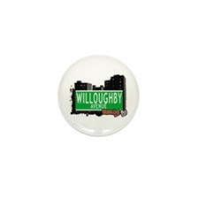WILLOUGHBY AVENUE, BROOKLYN, NYC Mini Button (10 p