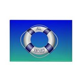 Smooth and Happy Sailing Rectangle Magnet (100 pac