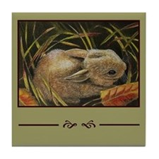 Bunny Rabbit Accent Tile Coaster