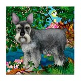 SCHNAUZER DOG PARADISE Tile Coaster