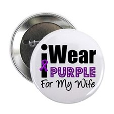 "Purple Ribbon Wife 2.25"" Button"