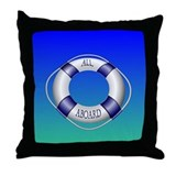 Smooth and Happy Sailing Throw Pillow