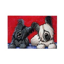 Skye Terrier Duo Rectangle Magnet (100 pack)