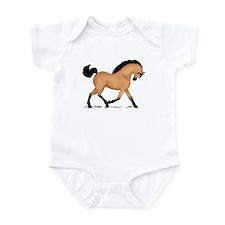 Trotting Buckskin Horse Infant Bodysuit
