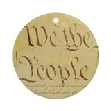 We the People II Ornament (Round)