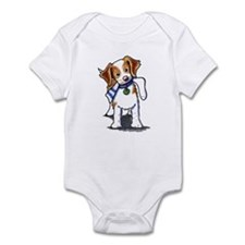 Playful Brittany Spaniel Infant Bodysuit