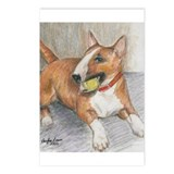 """Bull Terrier with Ball"" Postcards (Package of 8)"