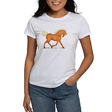 Bright Gold Palomino Horse Tee