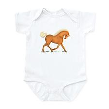 Bright Gold Palomino Horse Infant Bodysuit