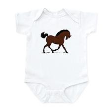 Dark Bay Horse Pony Infant Bodysuit