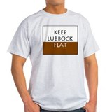 Keep Lubbock Flat Ash Grey T-Shirt