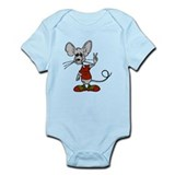 Cute Rat peace rat Infant Bodysuit