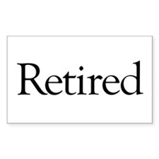 Retired Rectangle Sticker 10 pk)