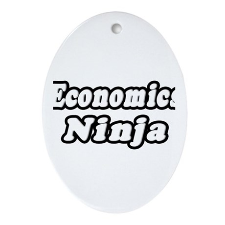 """Economics Ninja"" Oval Ornament"
