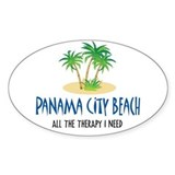 Panama City Beach Therapy - Oval Decal