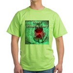 Beware! I Protect My Young! Green T-Shirt