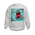 Beware! I Protect My Young! Kids Sweatshirt