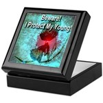 Beware! I Protect My Young! Keepsake Box