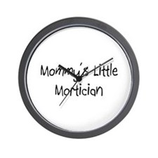 Mommy's Little Mortician Wall Clock