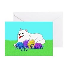 Samoyed Easter Greeting Card