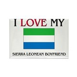 I Love My Sierra Leonean Boyfriend Rectangle Magne