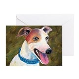 """Barney"" a Whippet Greeting Cards (Pk of 10)"