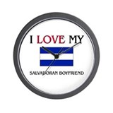 I Love My Salvadoran Boyfriend Wall Clock