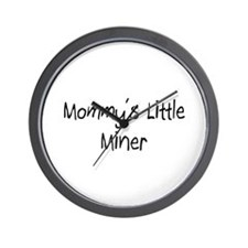 Mommy's Little Miner Wall Clock