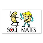 Macaroni And Cheese Rectangle Sticker 50 pk)