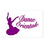 Purple Danse Orientale Postcards (Package of 8)