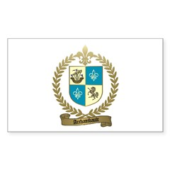ARCHAMBAULT Family Crest Rectangle Sticker